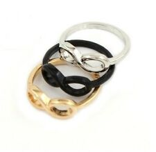 1PC Women Fashion Xmas Gift Punk Rock Infinite Infinity Sign Charms Ring Size 7