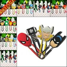 4PCS Marvel's The Avengers PVC Cartoon Paper Clips,Novelty Bookmarks Kids Gifts