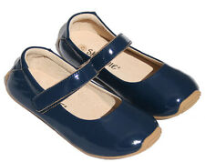 Skeanie Mary Jane Patent NAVY Toddler Kids Leather Soft Sole Girl Shoes