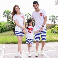 Family Clothing T Shirt and Shorts Sets Father Son Mom Daughter Matching Clothes