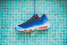 Mens Nike Air Max 95 Classic Sneakers New, University Blue / Mango 609048-406