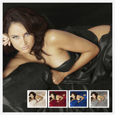 NEW BLACK SOLID SATIN SILK SEXY GAME BEDDING ITEM 1000TC CHOOSE SIZE AND ITEMS