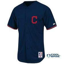 NWT Majestic Cleveland Indians MLB Youth Cool Base Batting Practice Jersey