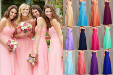 Bridesmaid Dresses Long Prom Ball Formal Evening Gowns Wedding Dresses Stock