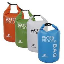 15L Waterproof Dry Bag Canoe Floating Sailing Boating Kayaking Camping Hiking