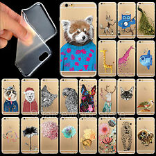 Lovely Funny Animals Soft Thin Clear Case Cover For iPhone 4 4S 5 5S 5C 6 6Plus