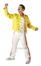 MENS FREDDIE MERCURY QUEEN ROCK 1980s YELLOW JACKET FANCY DRESS COSTUME OUTFIT
