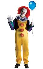 MENS PENNYWISE SCARY CLOWN IT FILM DELUXE HALLOWEEN COSTUME FANCY DRESS OUTFIT