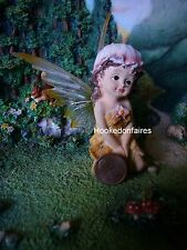 Fairy sitting with removable Wings  Miniature Fairy Garden Gnome  choose