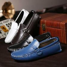 US size7-12 fashion mens slip on loafer leather flat  casual driving shoes dress