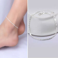 Sweet Gift Silver Plated Chain Anklet Beautiful Fashion Jewelry Hemp Rope Style