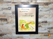 Little Prince - What is Essential is Invisible to the Eyes - Wooden Frame