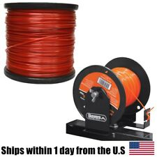 5lb 095 Square Red Commercial String Trimmer Line Spool Roll Echo w Spool Holder
