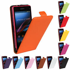 Slim Flip Matte Leather Protective Case Cover Skin for Sony Xperia Series