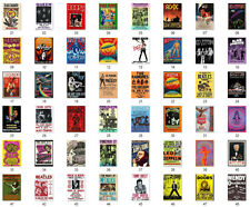 Vintage Concert A4 POSTER PRINT CANVAS PRINT SELF-ADHESIVE  Music Icons  retro