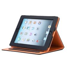 Sleep / Wake Stand Cover Soft Leather Wallet Smart Case for APPLE iPad w/Stylus