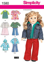 "SIMPLICITY DOLL CLOTHES PATTERNS You Choose American 18"" Girl or Bitty 15"" Baby"