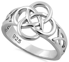 925 Sterling Silver Celtic Knot Ring Gaelic Jewelry Scottish Irish Friendship