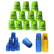 Set 12 pcs Speed Stacks Sport Flying Stacking Rapid Competition Cups Game Gift