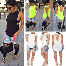 Women Sexy Summer Casual Backless Sleeveless Blouse T-shirt Blouse Tops Tee TOP