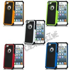 Hybrid Rugged Impact Rubber Matte Hard Case Cover for iPhone 5 5S