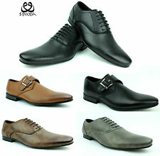 New Mens Smart Casual Office Black Dress Faux Leather Party Lace Up Shoes Size