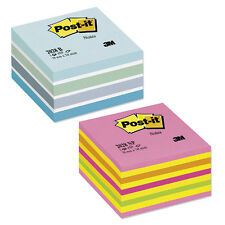 Post-It 76x76mm Neon Re-Move Notes Cube Pad - 400 to 1200 from £3.99 exVat!