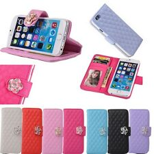 Flip Camellia Wallet PU Leather Case Stand Cover For iPhone 5 5S 6 6S 7 7 Plus