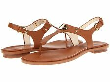 MICHAEL Michael Kors MK PLATE  Luggage LEATHER Thong Sandal