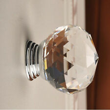 30mm Round Crystal Glass Cabinet Drawer Wardrobe Door Pull Handle Knobs for hot