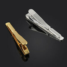 Pop Silver Gold  Black Men Necktie Tie Bar Clasp Clip Cufflinks Set Simple Gift