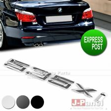 535xi REAR TRUNK LETTER EMBLEM BADGE STICKER for BMW 5 SERIES E60 E61 F10 F11