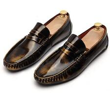 New mens casual patent leather slip on loafer oxford Moccasins driving shoes