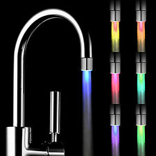 Glow LED Water Faucet Stream Light Temperature Control Sensor Green Red Blue th-