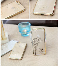 Luxury Clear Crystal Diamond Transparent Back Hard Case Cover For Apple iphones