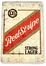 "TIN SIGN ""Red Stripe Beer Old"" Lager Metal Decor Art Bar Pub Shop Store A776"