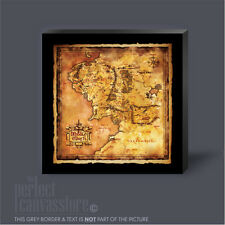 HOBBIT LORD OF THE RINGS MIDDLE EARTH MAP GIANT ICONIC CANVAS ART Art Williams