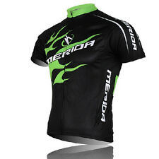 Short Sleeve Cycling Biking Jerseys Green Fire Men Sportwear Jerseys Jacket Top