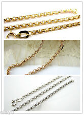 18K Gold Rolo chain Necklace / (Rose Gold/White Gold/Yellow Gold Available)