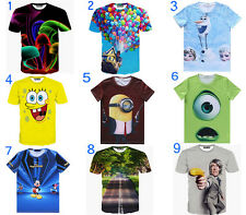 Funny Men Womens Cartoon 3D T-Shirt Animals Scenery balloon Personality Figure