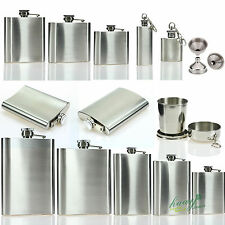 Stainless Steel Hip Flask Liquor Whiskey Alcohol Pocket Wine Bottle Funnel Cup