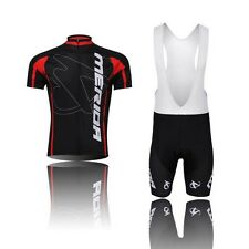 Men's Team Bicycle Bike Jersey (BiB) Shorts Padded Gel Cycling Clothing S-4XL
