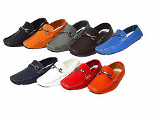 Men's Casual Driving Moccasins Loafers Shoes 8 Colors Buckle Slip On Shoes PAYNE