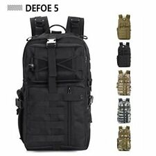 Black USA Military Tactical Backpack Molle System 3 day Life Saver Bug Out Bag