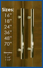 Entry Shower Bathroom Office Long Door Pull Handle Stainless Steel Polished