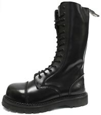 GRINDERS NEW HERALD COMBAT BOOTS BLACK LEATHER SAFETY STEEL CAP PUNK ROCK