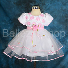 Infant Baby Dress Wedding Flower Girl Pageant Party Baby Size 6m-24m FG182
