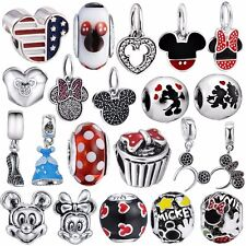 Mouse sterling Silver Charms Beads dangles Fit S925 Necklaces European Bracelets