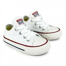 New Unisex Converse - All Star Canvas Ox - For Infants -Optical White (7J256C)
