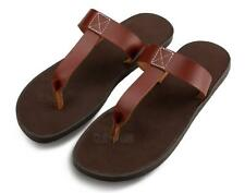 Mens Casual roma gladiator flip flops leather strap fisherman beach sandal New